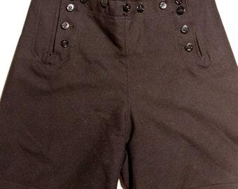 Vintage Retro  High Waist Sailor Shorts