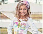 Big Sister Shirt Long Sleeve Applique Big Sis Shirt Girls Tshirt Sibling Shirts Birth Announcement Made to Order
