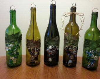 Upcycled Wine Bottle Incense Burner, Clean Way to Burn Incense, Wine Gift, House Warming Gift, Incense holder