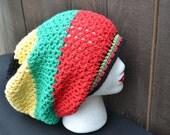 Crochet Rasta Hat - Rasta Tam - Dread Tam - Rastafari - Slouchy Beanie - Music Festivals - Summer Fashion
