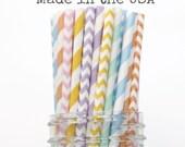 Paper Straws, Pastel Paper Straws, Vintage Wedding, Baby Shower, Kids Birthday Party, Pink Paper Straws Mint Green Straws Peach Paper Straws