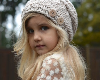 KNITTING PATTERN - Barton Slouchy (Toddler, Child, and Adult sizes)