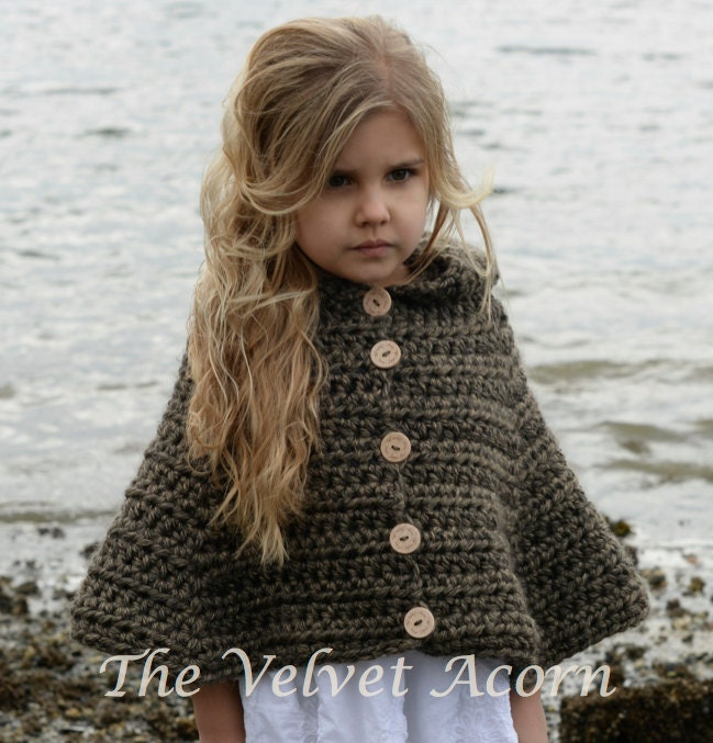 Knitting Pattern Azel Pullover : CROCHET Pattern Stoyne Cape 2 3/4 5/7 8/10 11/13