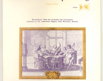 A Choral Tapestry Masterpieces from 16th and 17th Centuries by the Ambrosian Singers, John McCarthy, Director. Vintage Vinyl Record Murbo LP