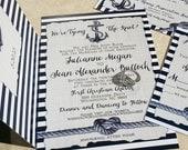 NEW! Nautical Wedding Invitations. Heart knot and anchor wedding invitations