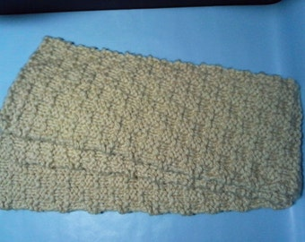 Off-White Knit Scarf, Men's Scarf, Women's Scarf, Beige Scarf, Teen Scarf