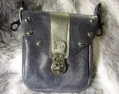 In Stock Blue Clip Bag with Fairy Door, Belt Loop Pouch, Fanny Pack, Loop Bag