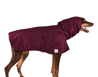 DOBERMAN PINSCHER Rain Coat, Dog Raincoat, Waterproof Dog Coat, Spring Jacket for dogs, Windbreaker, Dog Clothes, Dog Clothing, Accessories