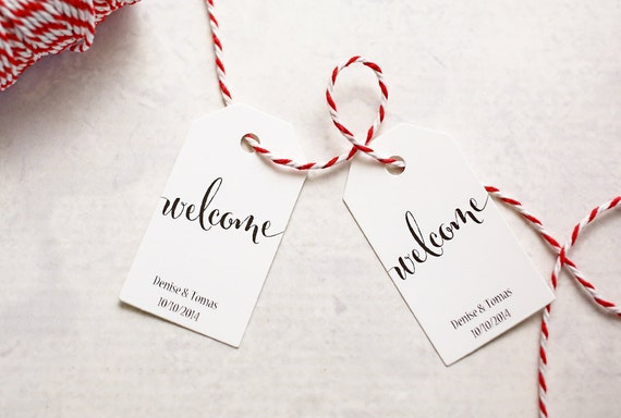 Destination Wedding Gift Tags : Welcome Gift Tag, Destination Wedding Favor, Travel Wedding Stationery ...