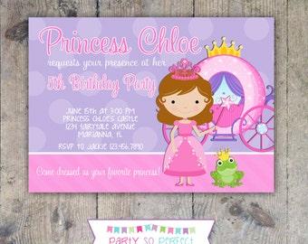 PRINCESS Birthday Invitation 5x7 - Girl Printable