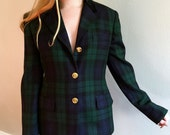 RESERVED FOR ZEE: Vintage Plaid Ralph Lauren Blazer