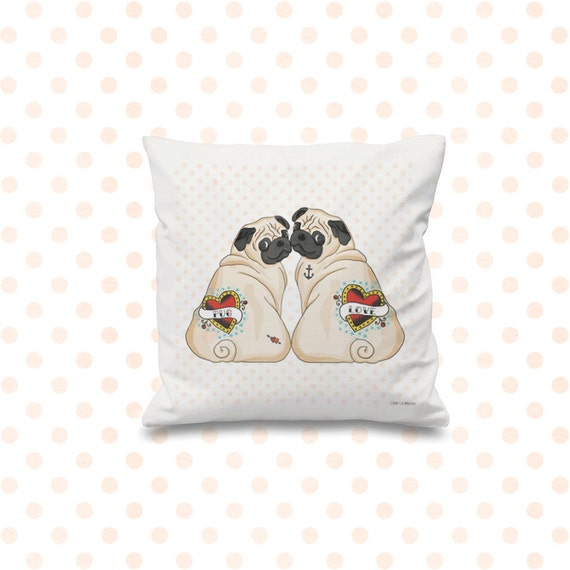 Pug Love Cushion Cover