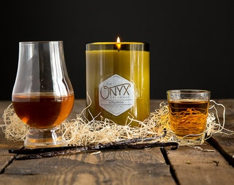 11 oz. Bourbon Scented Wine Bottle Soy Candle