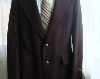 Sepia Brown Wool Sport Coat, Blazer, Suit Jacket, Size 40, Deadstock, New With Tags