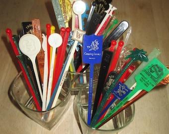 15 Swizzle Sticks from Restaurants, Casinos, Sports Related Etc.  G-230