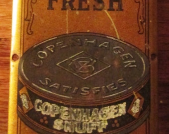 Rare Vintage Copenhagen Snuff Tin Door Plates.  Matching Pair Push and Pull Door Plates.  G-302.