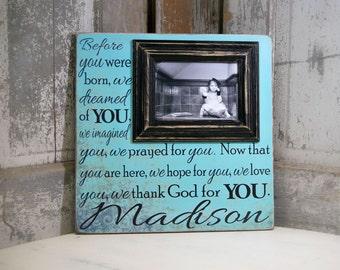 Baby Picture Frame, Baby Girl, Baby Boy, Custom Baby Frame, Personalized Baby Frame, Baby Gift, Baptism Gift, Christening Gift, 16x16