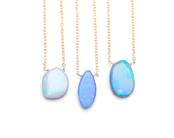 Natural Opal Necklace Australian Boulder Opal