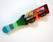Hand Painted Rainbow Tambourine Shaker 2