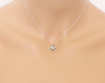 Apple Necklace, Teacher Appreciation, Teacher Necklace, Apple, Big Apple, Teacher Gift, Apple, Sterling Silver, BeadXS, Apple Jewelry, Gift
