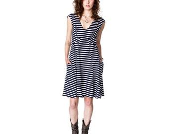 Bent Dart Nautical Knit Dress
