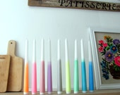 3 Dip Dye Ombre Candles - Neon -Party Supplies-taper candles-candle light-entertaining-bohemian decor