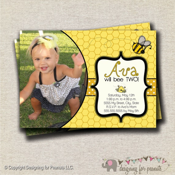 Bumble Bee Birthday Invitation - yellow and black | Bumble Bee Birthday Invite | Bumble Bee Birthday Party Printables