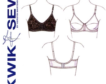 Womens Bra Pattern Uncut Kwik Sew K3594 Lingerie Full Cup Brassiere Lace Bra Kerstin Martensson Foundations Undergarments Sewing Patterns