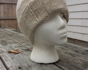 Mens Knit Hat, Mens Winter Hat, Knit hat, Lambswool/Angora