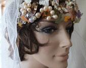 Wedding head peice crown tiara fairy wedding celtic Elven Camelot Flapper wedding tiara