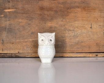 Vintage White Owl Bottle by Avon