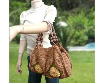 INSTANT DOWNLOAD The Yellow granny square purse - Designer Inspired – Crochet Pattern