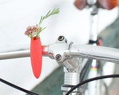 Twisted Handlebar Vase in Coral: For Your Bike