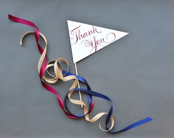 Thank You Pennant Photo Prop - Poem Script
