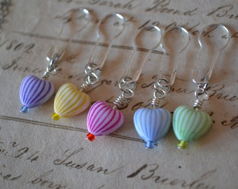 Candy Heart No Snag Stitch Markers