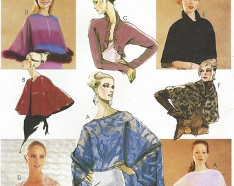 Womens Evening Cover-Ups Wraps, Shrugs Capelets McCalls Sewing Pattern 3033 Size 4 6 8 10 12 14 16 18 Bust 29 1/2 to 40 UnCut