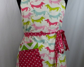 Dachshund Doxie Wiener Dog Apron Full Lined