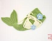 DIGITAL PATTERN:Crochet Baby Mermaid PATTERN,Baby Mermaid Outfit Pattern,Baby Mermaid Costume,Baby Mermaid Tail,Baby Mermaid Crochet