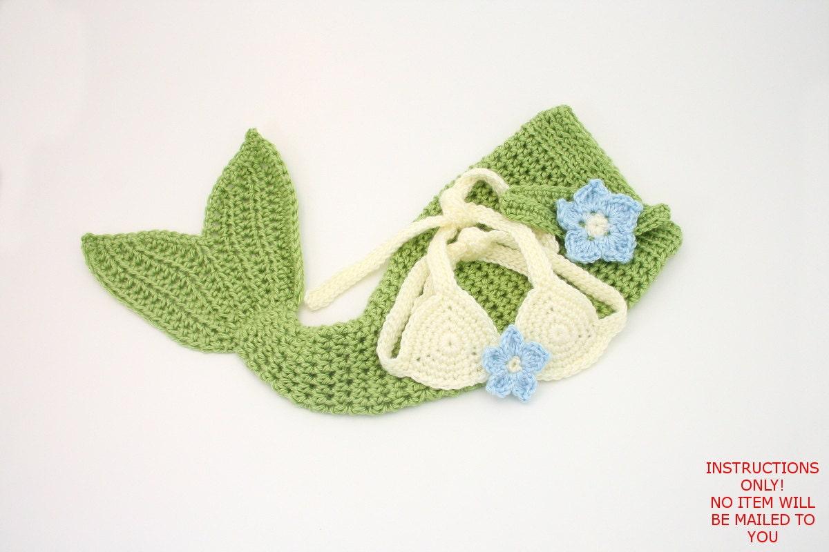 Crochet Pattern For Toddler Mermaid : DIGITAL PATTERN:Crochet Baby Mermaid PATTERNBaby by ...