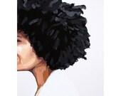 """5x7"""" hair art - """"Afro 1"""""""