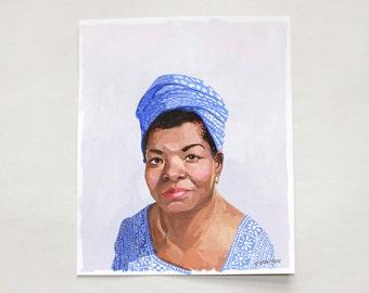 "8x10"" painting - ""Maya Angelou"""