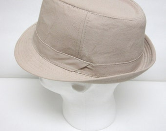 Fedora Hat Tan Brown Mens Trilby