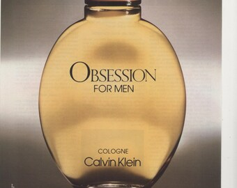 1989 Advertisement Obsession Calvin Klein For Men 80s Mens