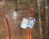 Alice in Wonderland and Peter Pan book earrings