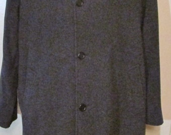 VINTAGE Mens CASHMERE and WOOL Full Length Coat Fits From 40 to 44