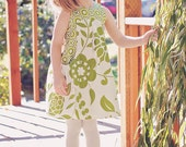 Lily Bird Studio PDF sewing pattern Angelique dress for girls from 1 to 10 years - high waist, wide gathered pockets