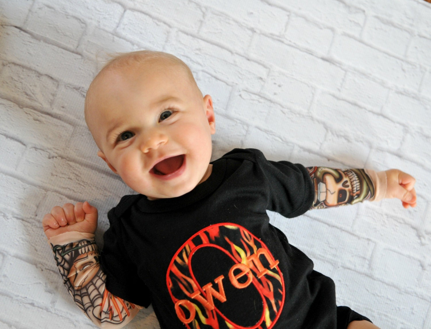 tattoo sleeve personalized tattoo baby boy clothes