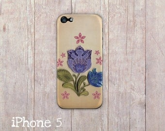 Wycinanki Inspired iPhone Case for iphone 5 and iphone 4, iPhone 6, Polish Folk Flowers inspired iPhone case, European folk art iphone cover