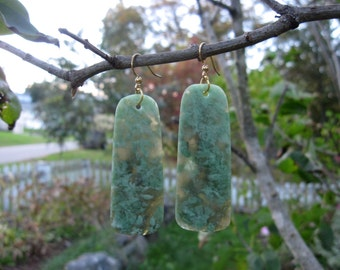 Washington River Grossular Garnet Earrings: Grossular Garnet Earrings