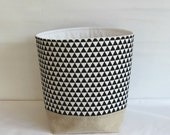 Storage Basket Modern Black and White Triangles Larger Size
